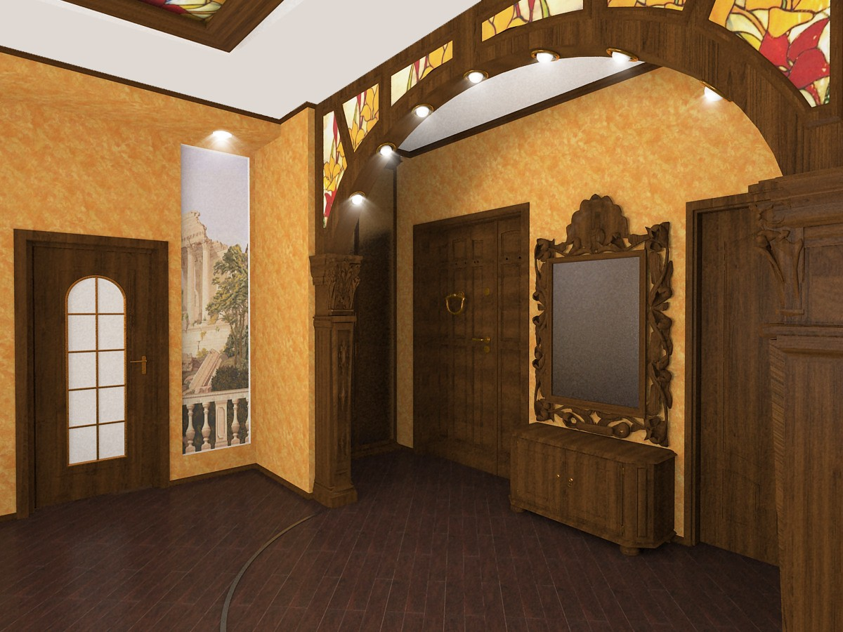 country cottage in 3d max vray image