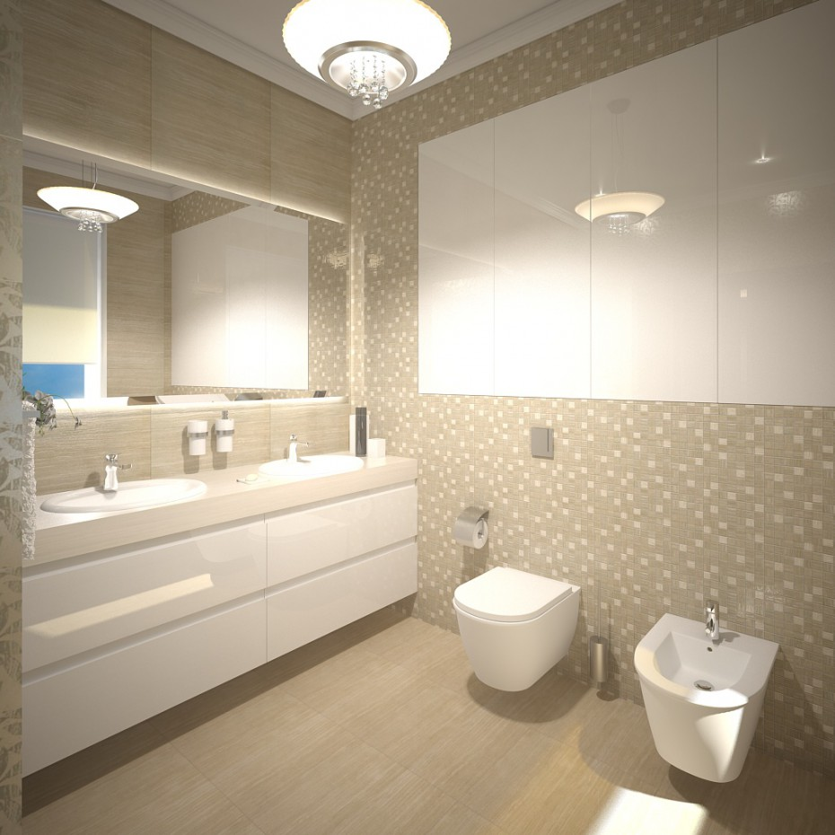 3d visualization of the project in the A Bathroom 3d max, render vray of Katushechka