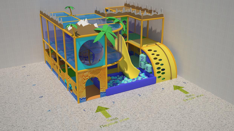"""Дитячий майданчик """"Безлюдний острів"""" в 3d max vray 2.0 зображення"""