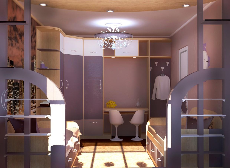 Комната на 2 в общаге в 3d max vray изображение