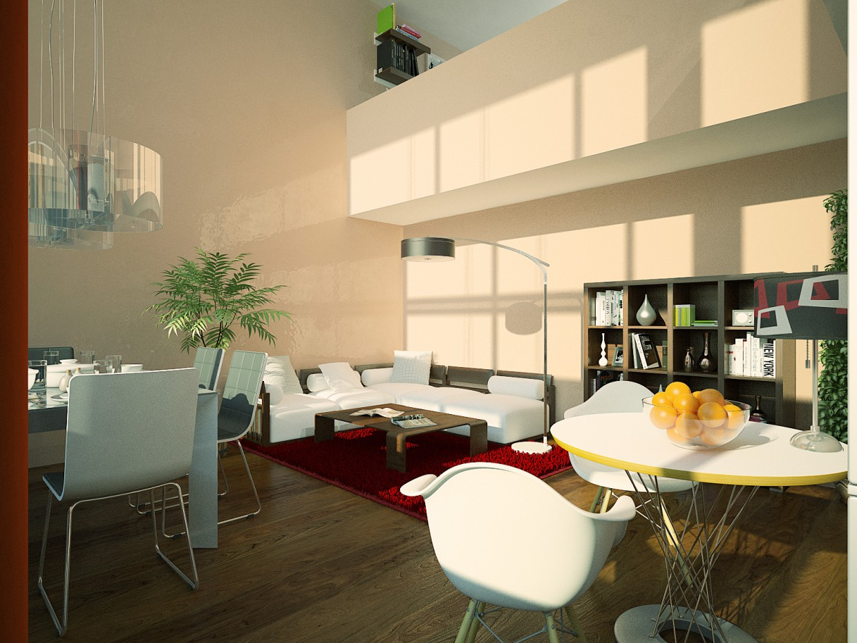 Narkomfin Building in 3d max vray 2.0 image