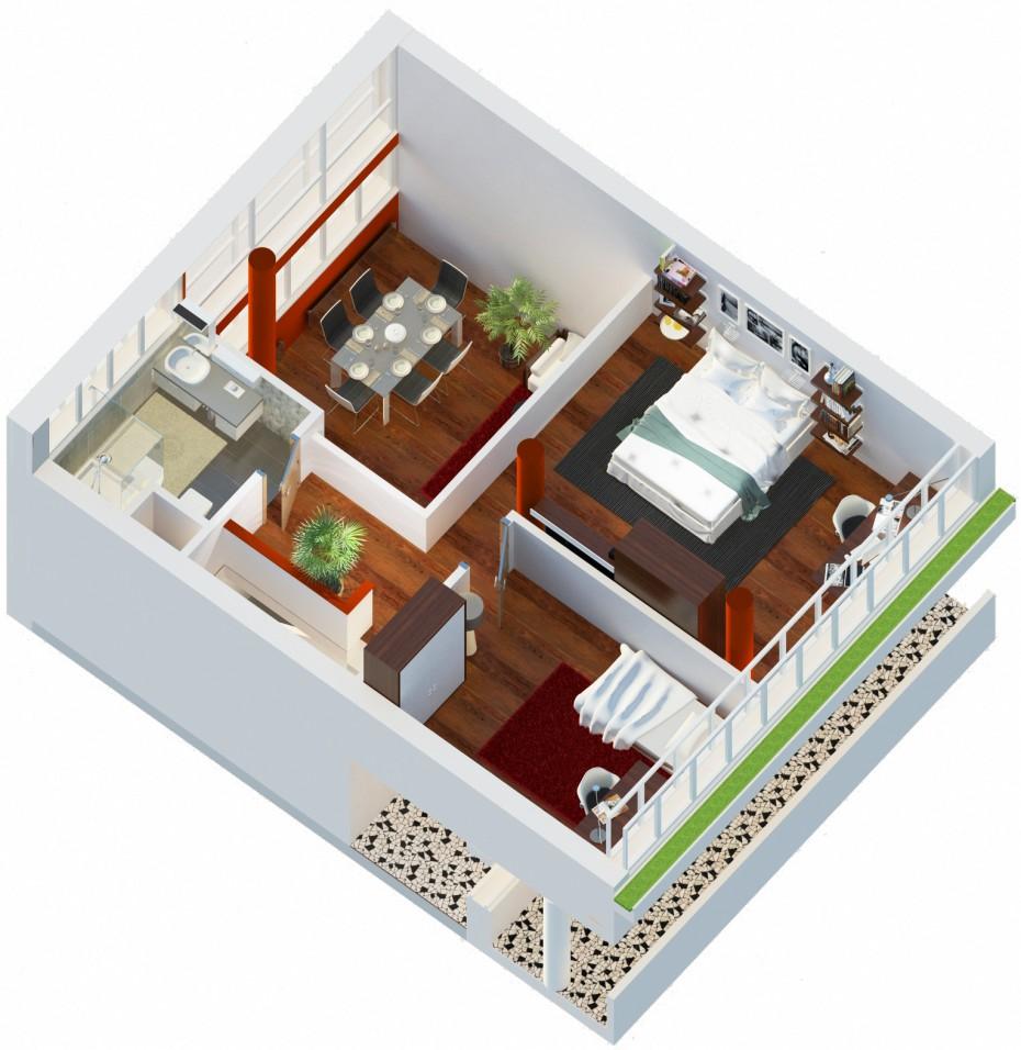Будинок Наркомфіну в 3d max vray 2.0 зображення