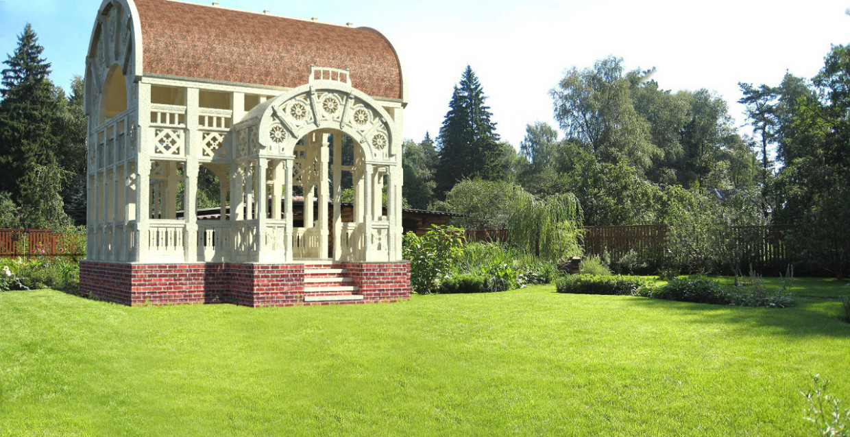 3d visualization of the project in the Pavilion 10h6.4hh6.4 render SolidWorks, render Other of Aleksey_Aleksandrovich