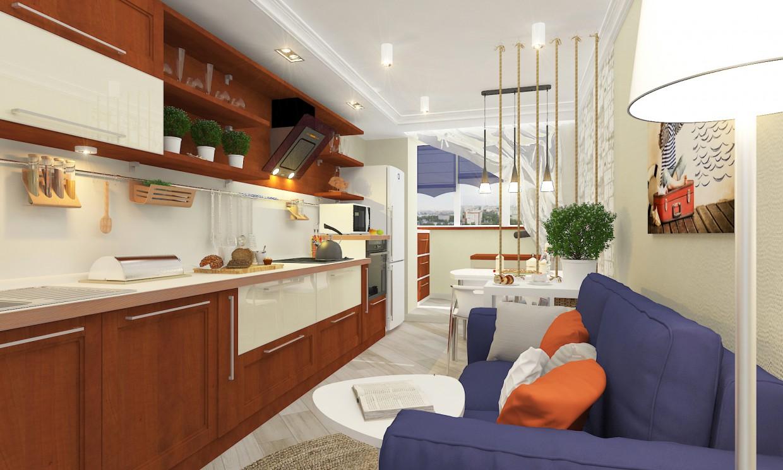 Кухня с канатной перегородкой в 3d max vray 2.5 изображение