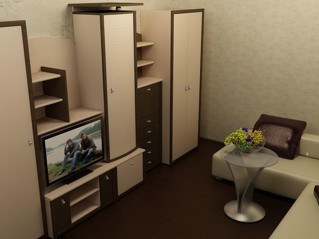 Маленька вітальня в 3d max vray зображення