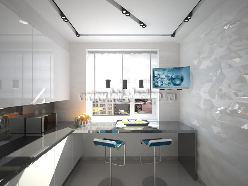 Kitchen with elements of hi-tech style in 3d max vray 2.0 image