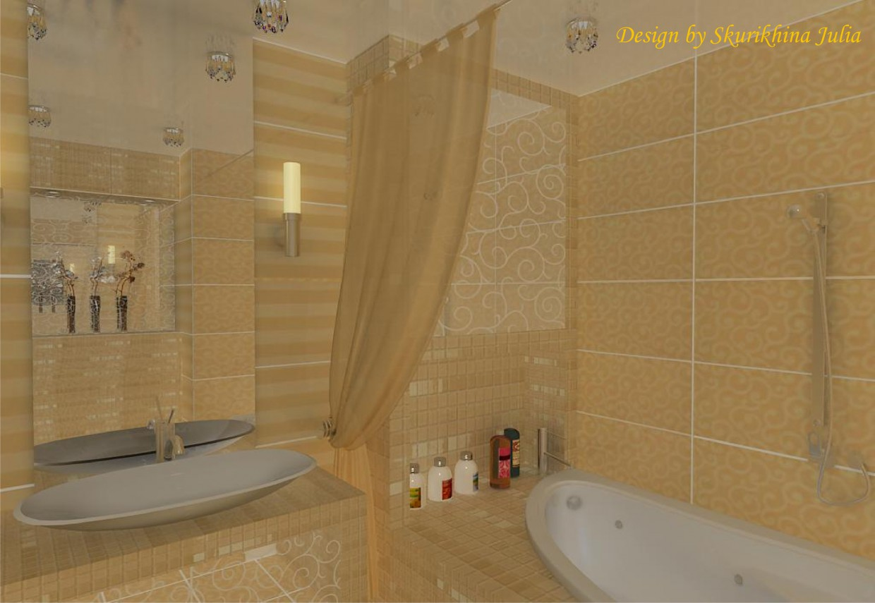 3d visualization of the project in the Bathroom 3d max, render vray of ССК