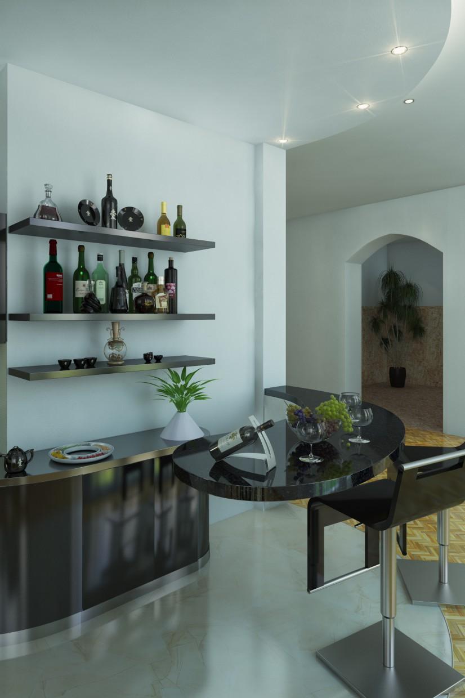 Два ракурса одного помещения в частном доме в 3d max vray изображение
