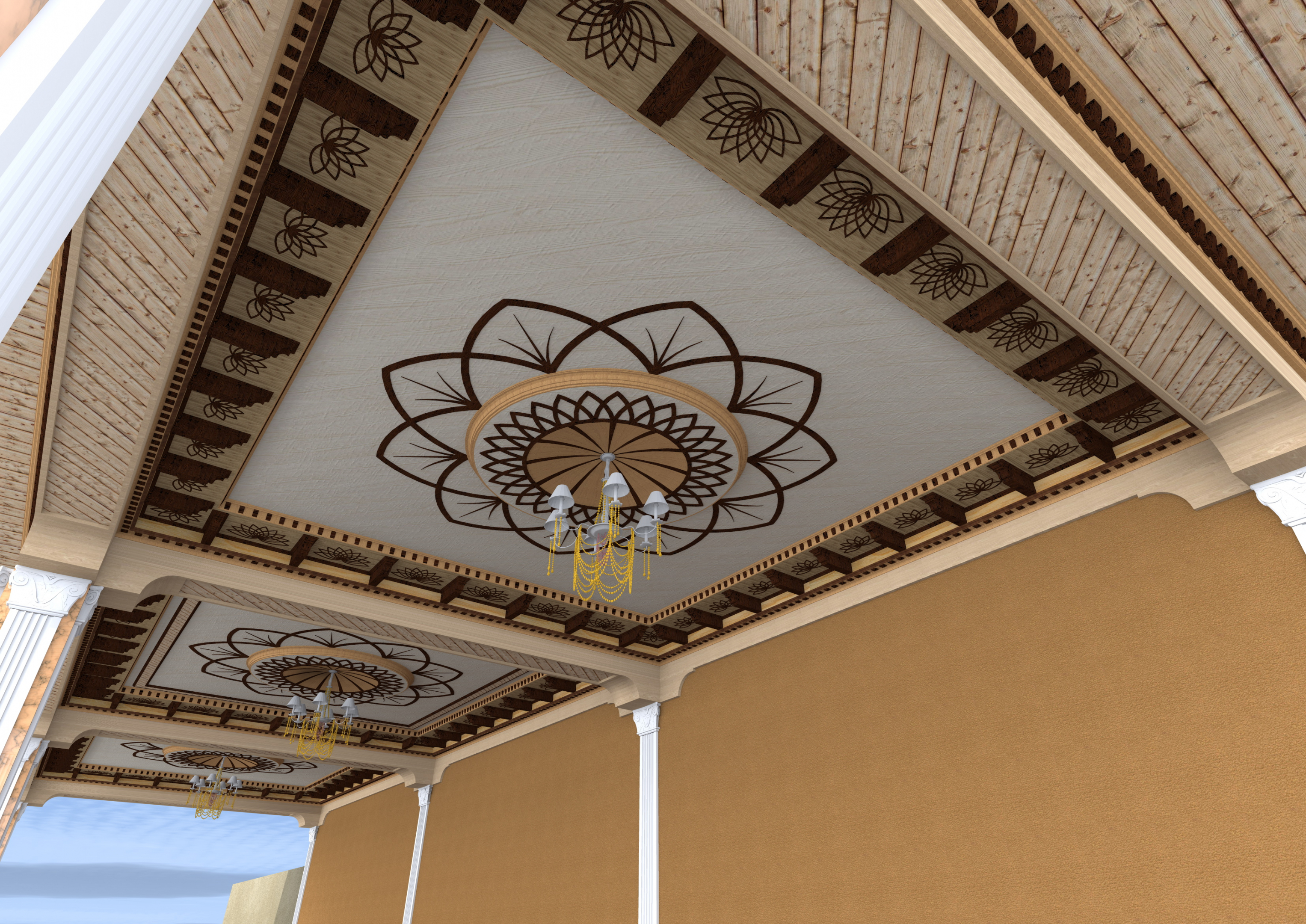 Wood ceiling and plywood in ArchiCAD Other image