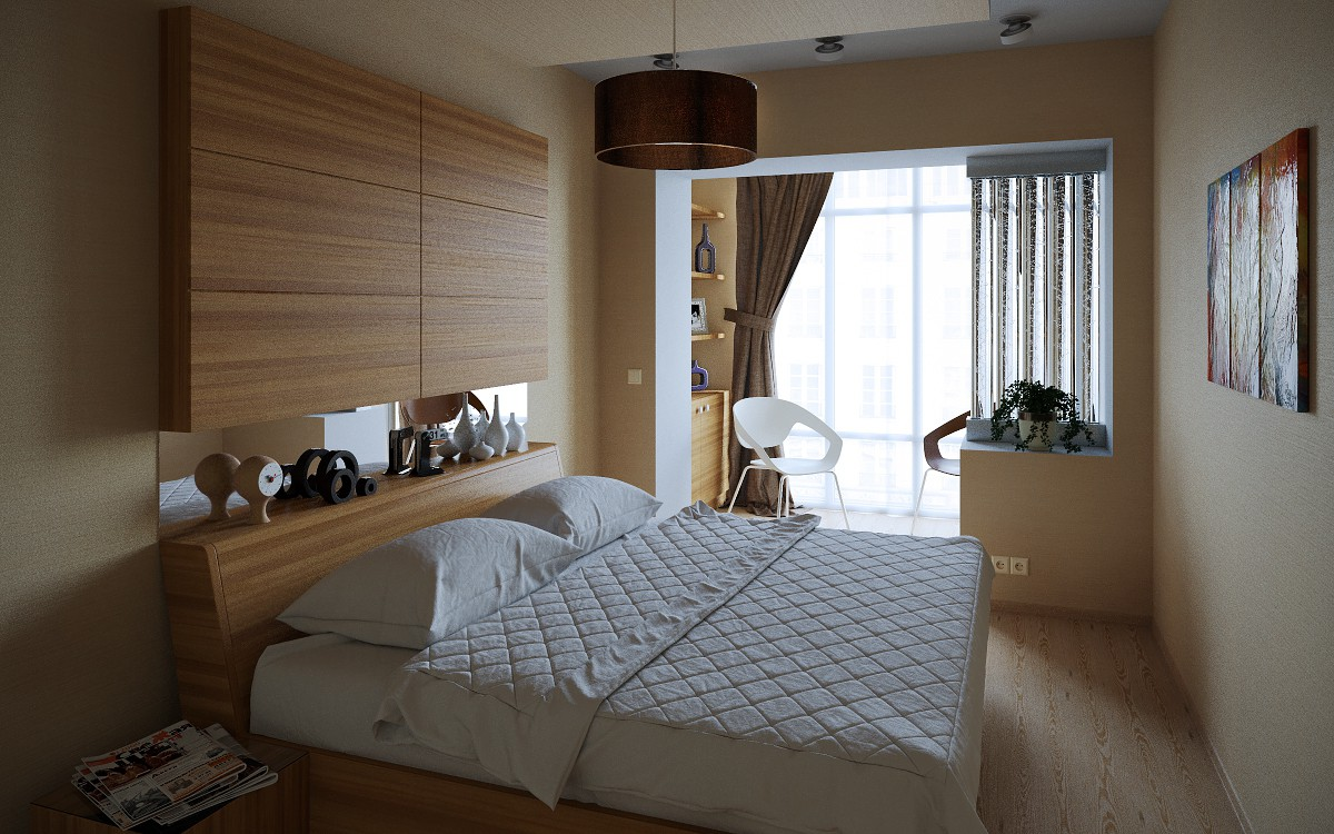 Bedroom ... in 3d max corona render image