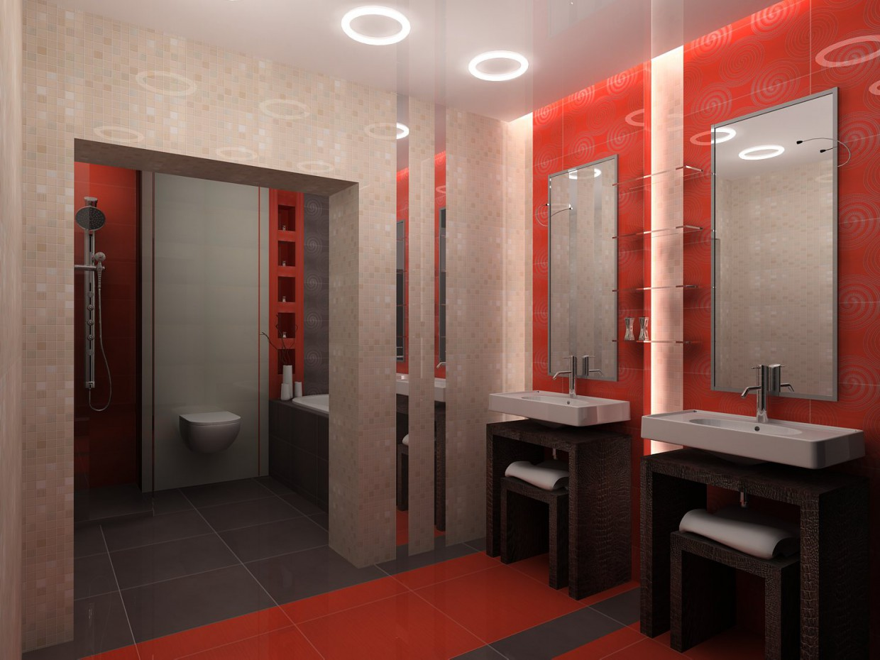 3d visualization of the project in the bathroom Novouralsk 3d max, render vray of Mariya_s