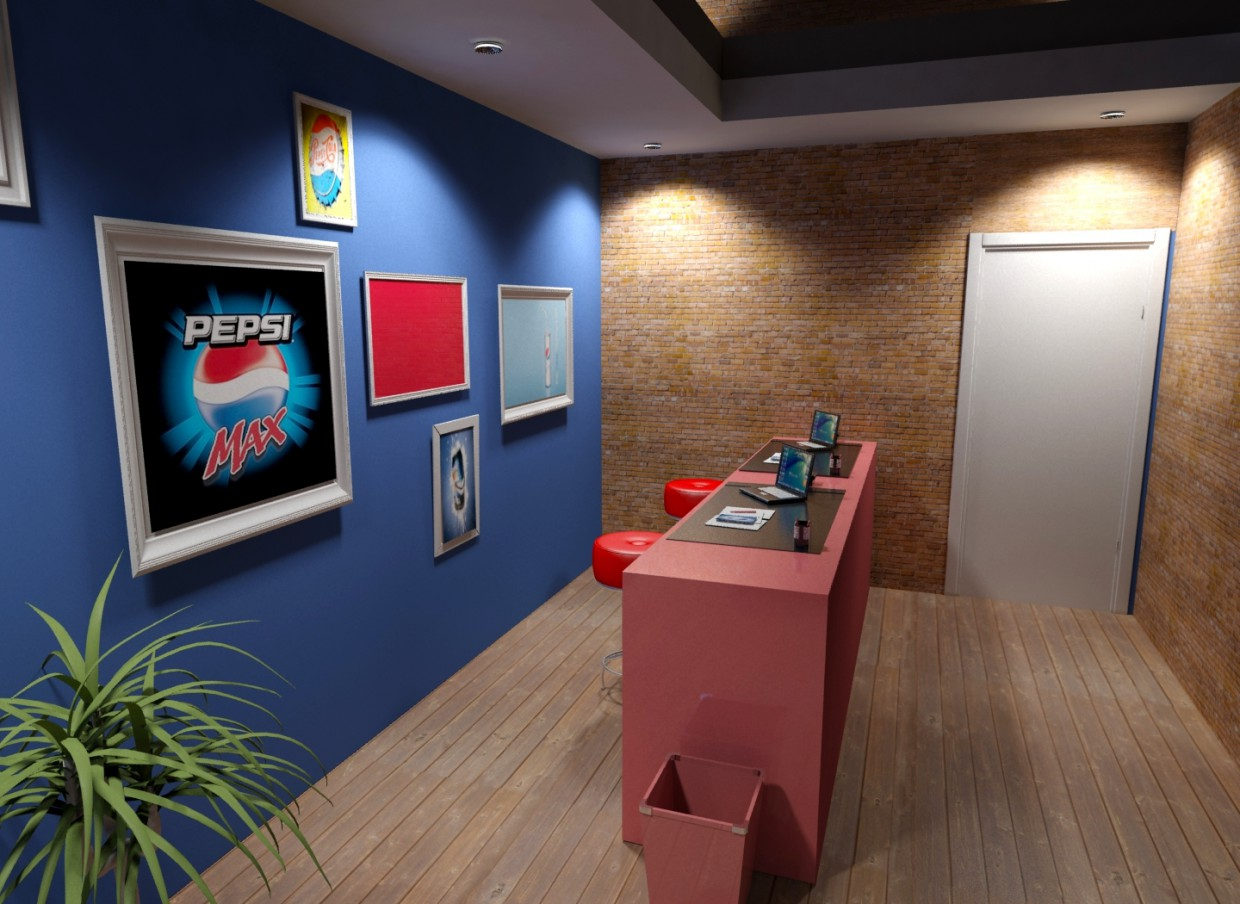 University Project Office in 3d max mental ray image
