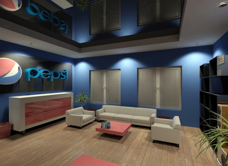 Університетський проект Офіс в 3d max mental ray зображення