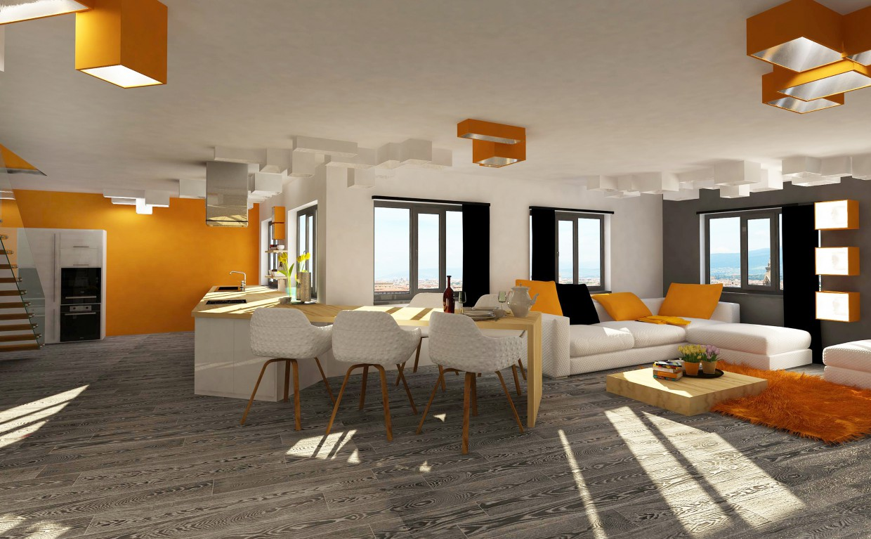 2-storey apartment in Yekaterinburg in 3d max vray image
