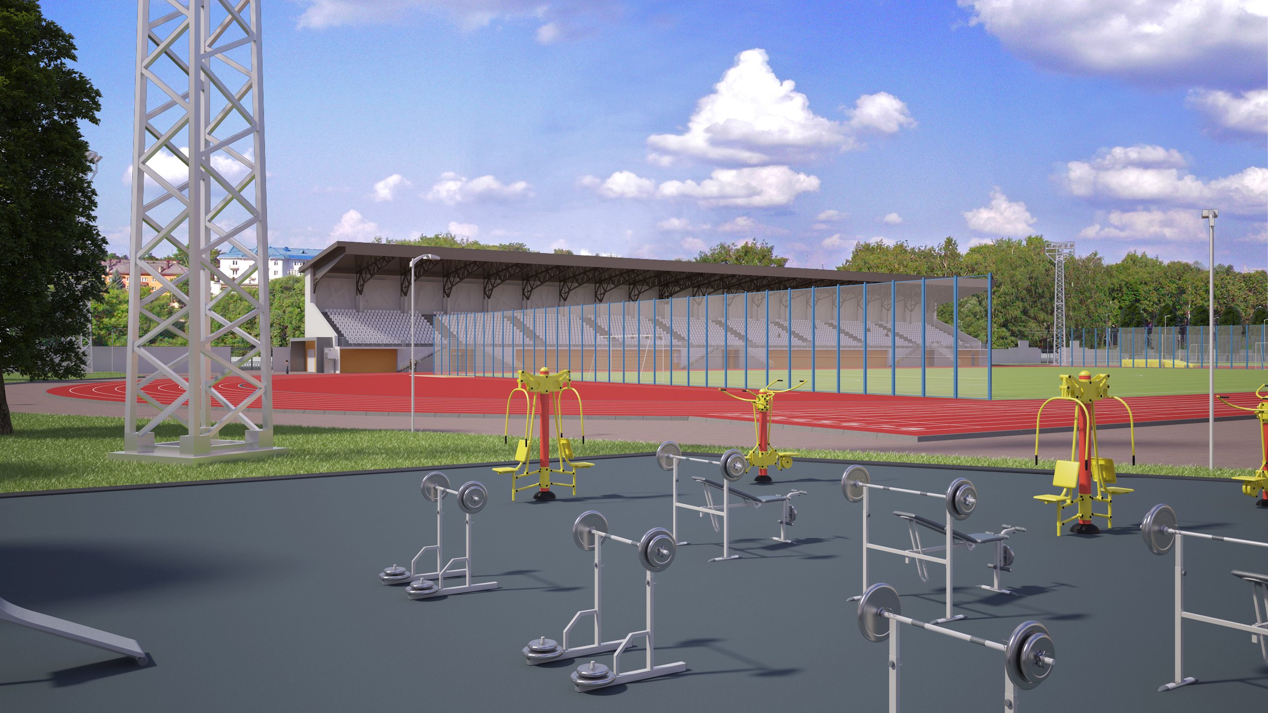 "Stadium ""Mashinostroitel"" in 3d max vray 3.0 image"