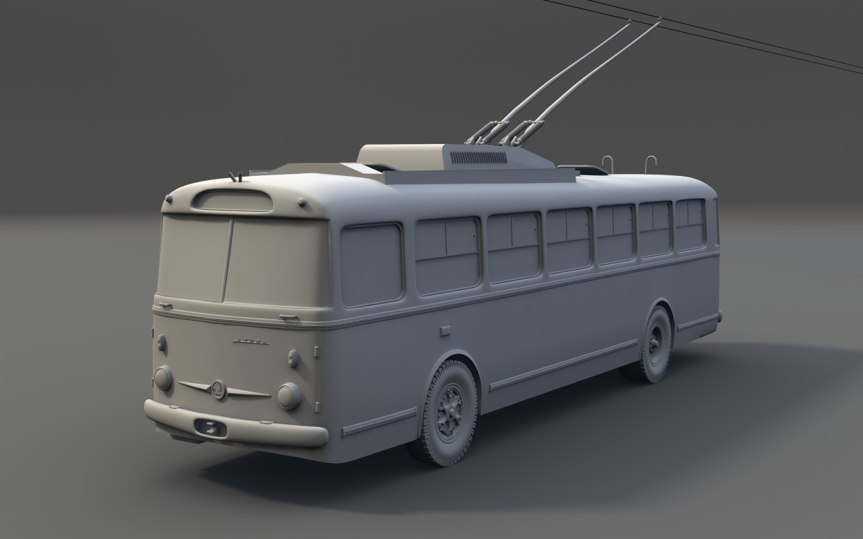 3d visualization of the project in the Trolleybus Maya, render mental ray of Kostya