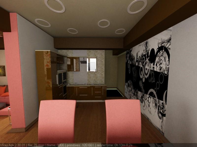 imagen de Instalaciones de la cocina en 3d max vray