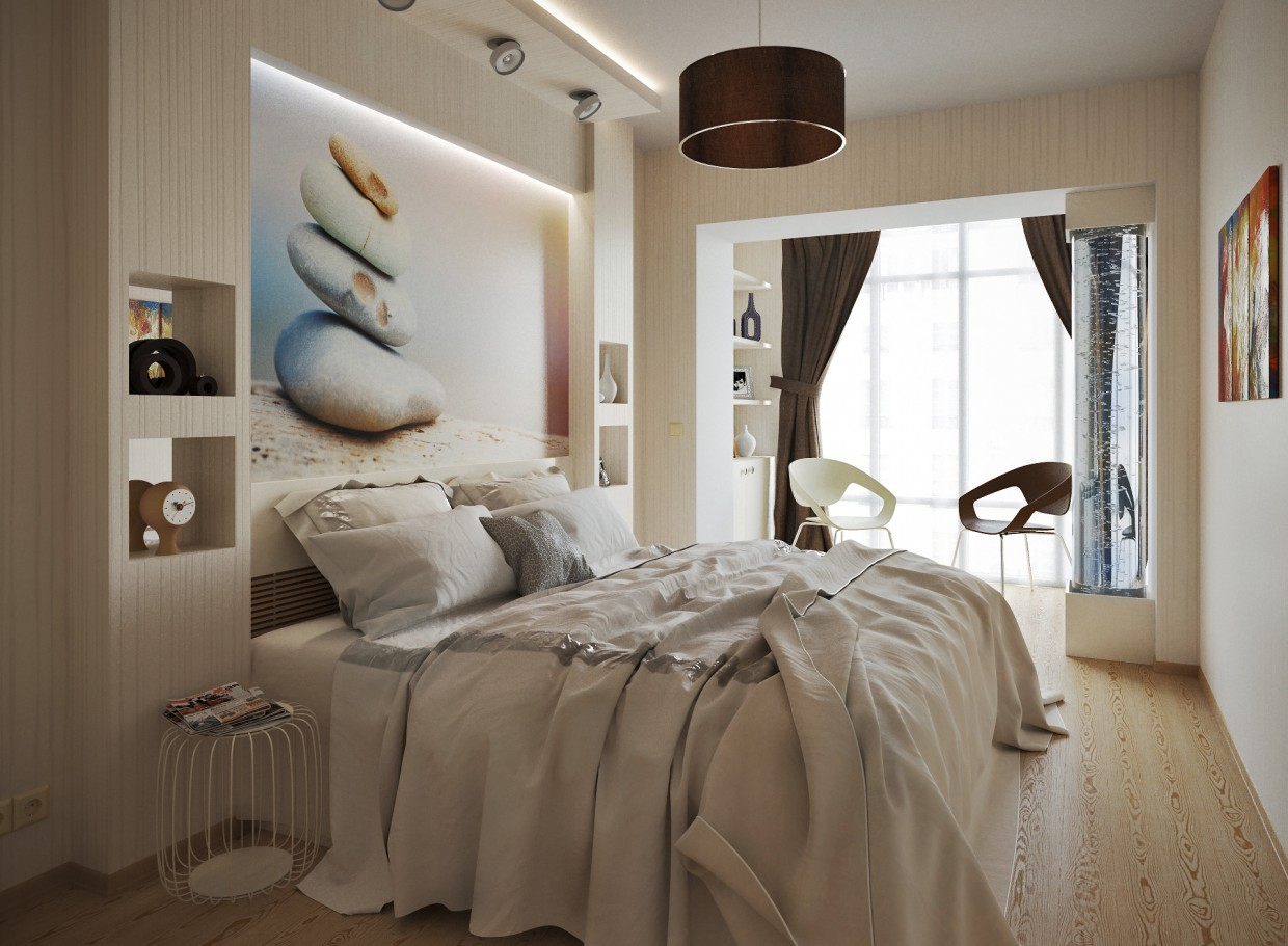 3d visualization of the project in the Bedroom ... (an alternative vision) 3d max, render corona render of Conceptvision