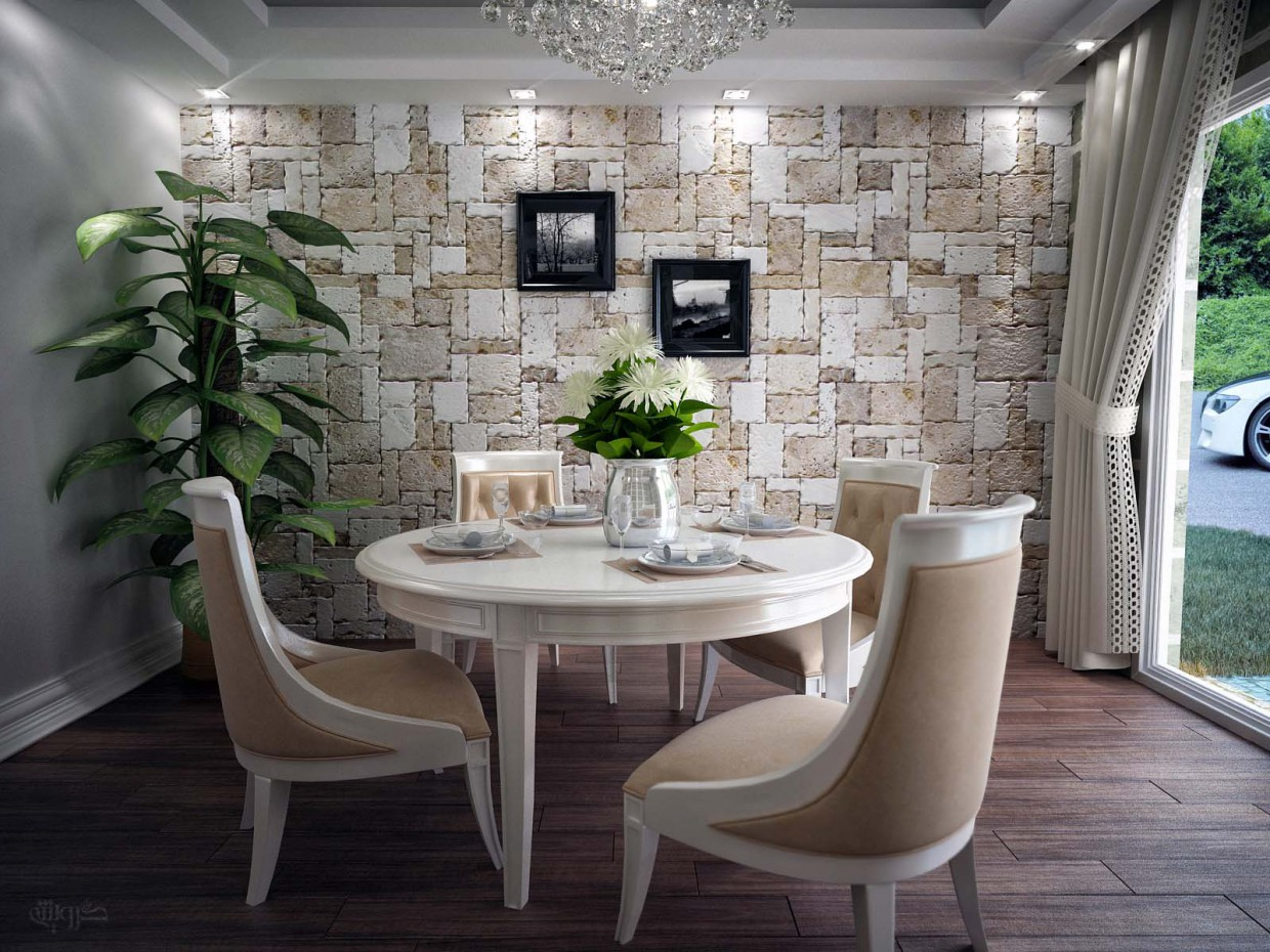 3d visualization of the project in the Dining-room 3d max, render vray of mohamaddarvishi