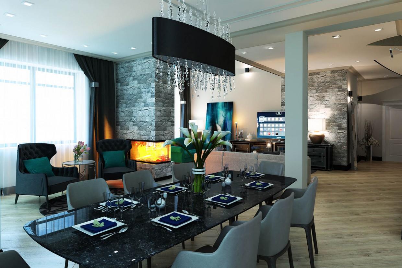 imagen de El Interior de una casa privada en 3d max vray 3.0