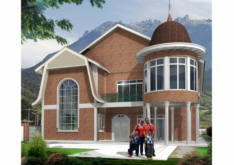Esterno Di Una Casa : Esterno della casa visualizzazione e progettazione d lavoro in
