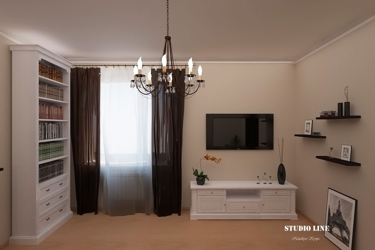 3d visualization of the project in the Living room 3d max, render vray of Natalo4ka
