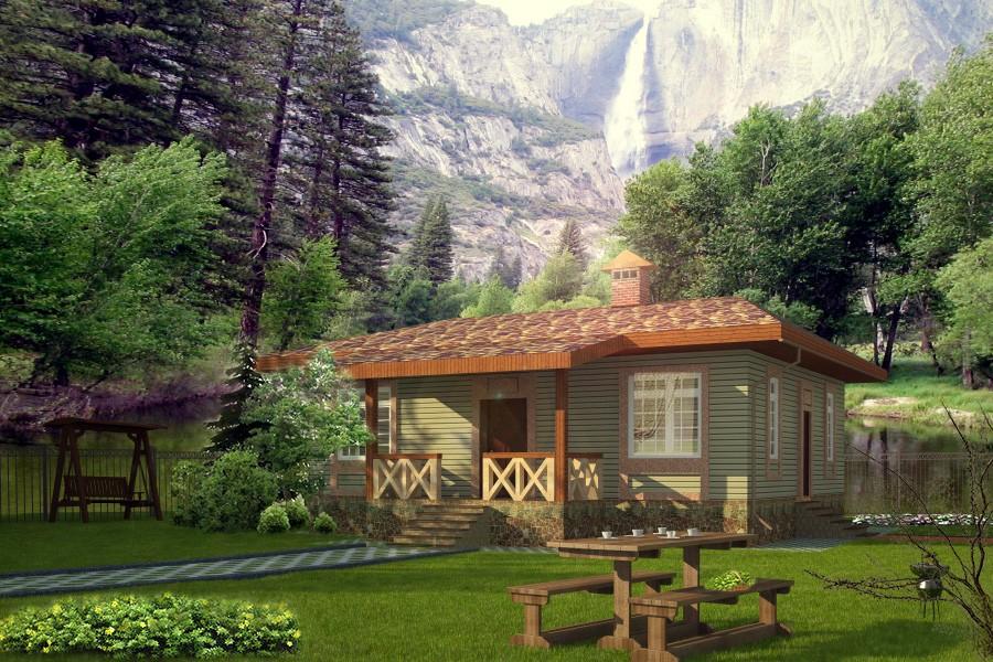 Дачный домик в 3d max vray 2.0 изображение