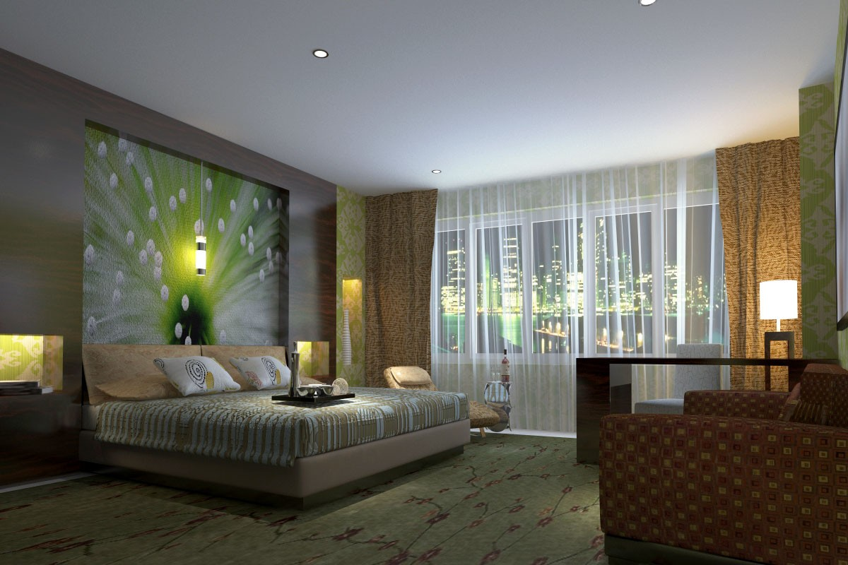 3d visualization of the project in the Bedroom 3d max, render vray 2.0 of jupiter