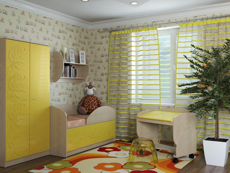 imagen de Mowgli amarillo brillo en 3d max vray