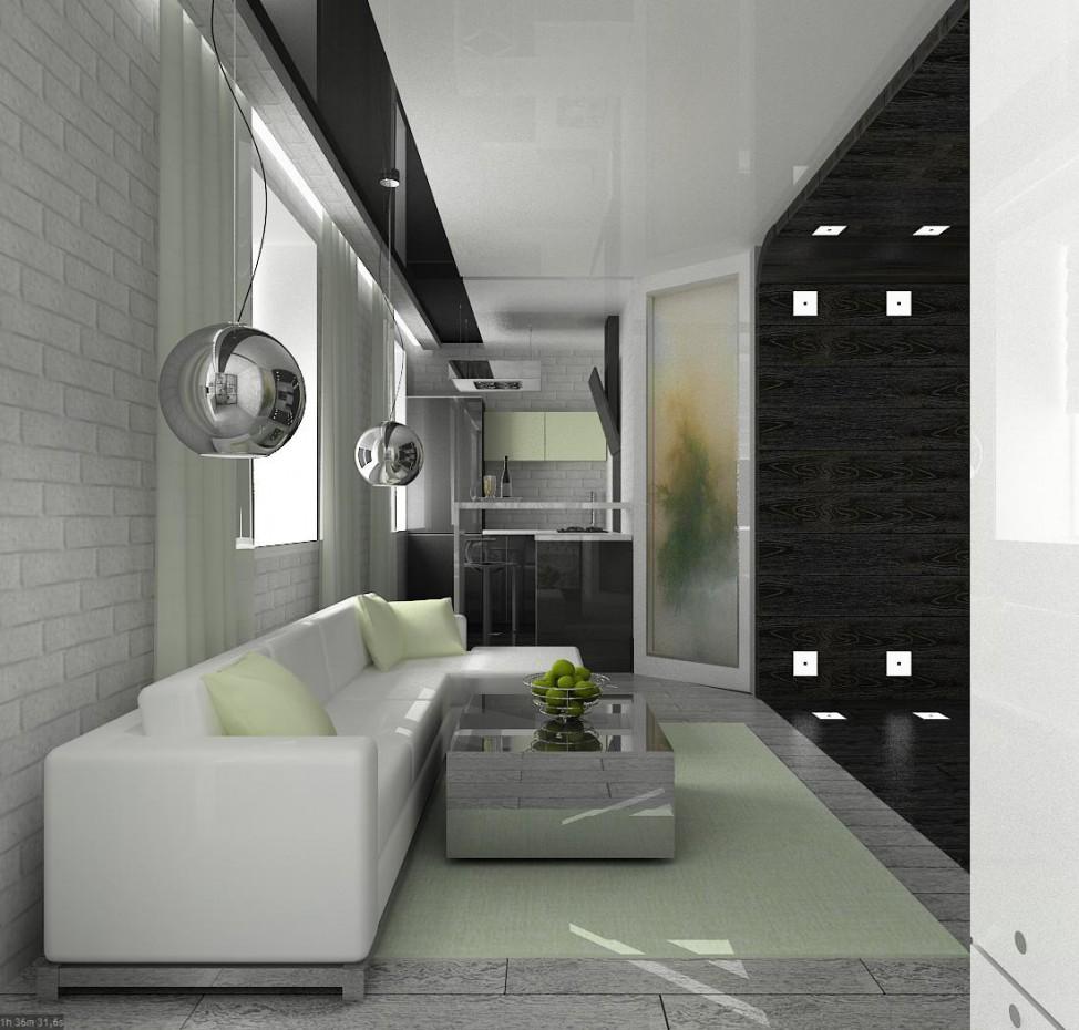 3d візуалізація проекту квартира холостяка Новоуральськ Свердловська обл. в 3d max, рендер vray від Mariya_s