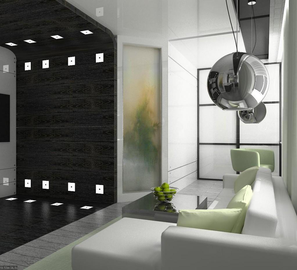 Квартира холостяка Новоуральск Свердловская обл. в 3d max vray изображение