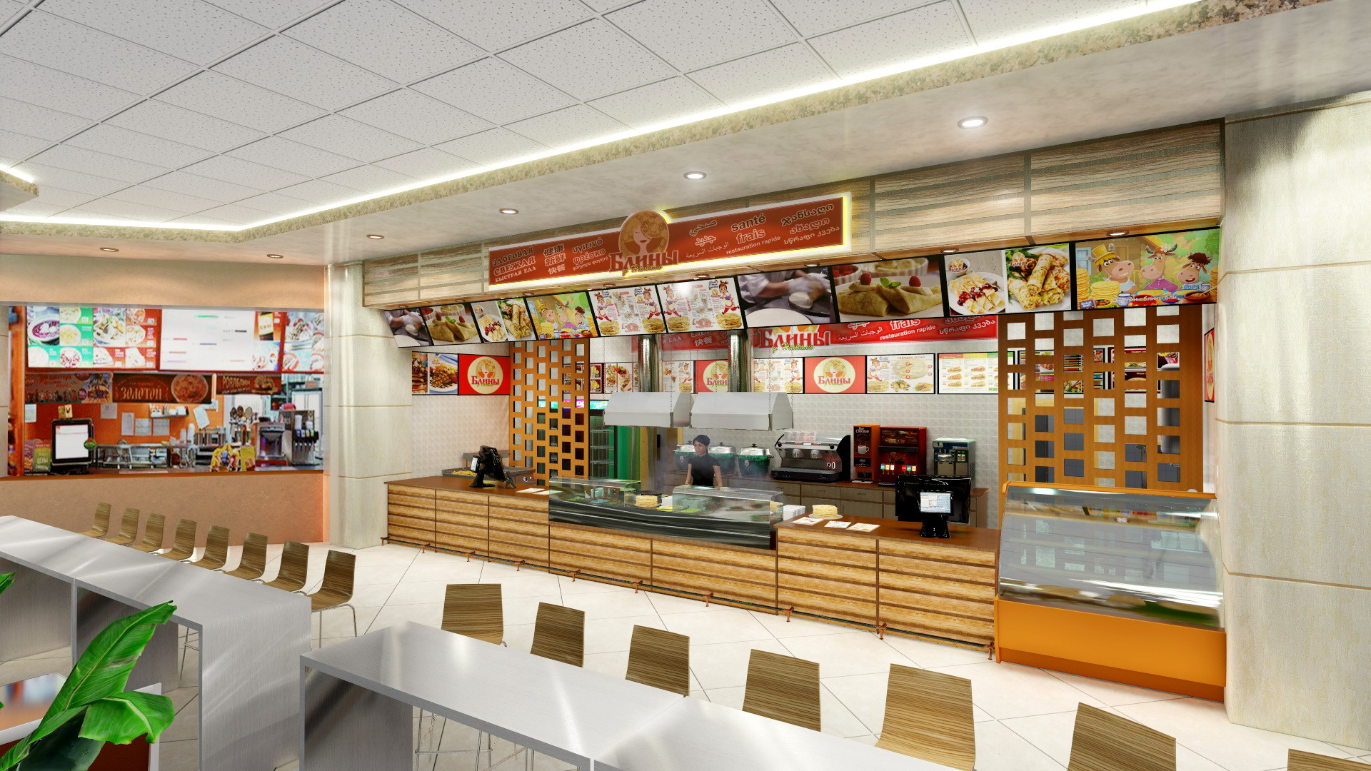 3D presentation of a brand in Foodcourt of a large fuel dispenser. (Video attached) in Cinema 4d Other image