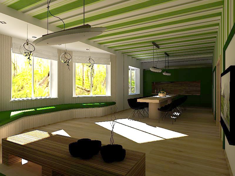 Sketch of Eco Guest House  in  3d max   vray  image