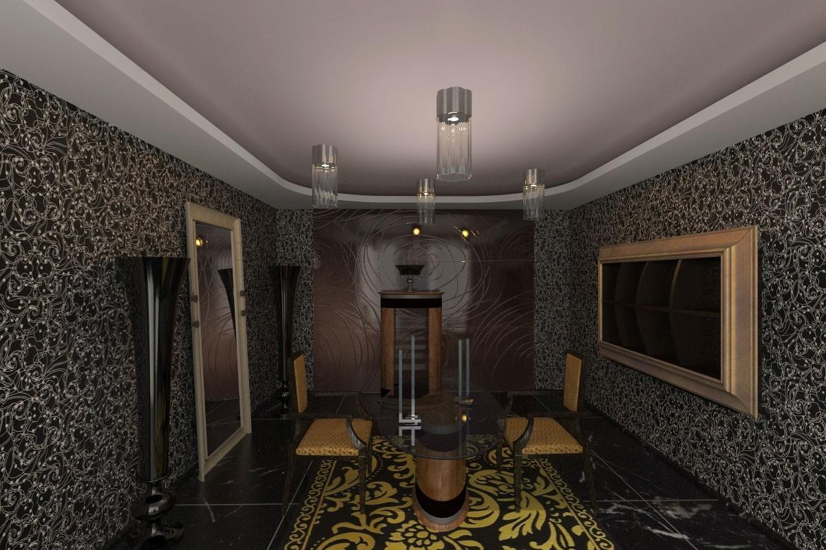 visualización 3D del proyecto en el Sala de conversación 3d max render vray 2.0 jupiter