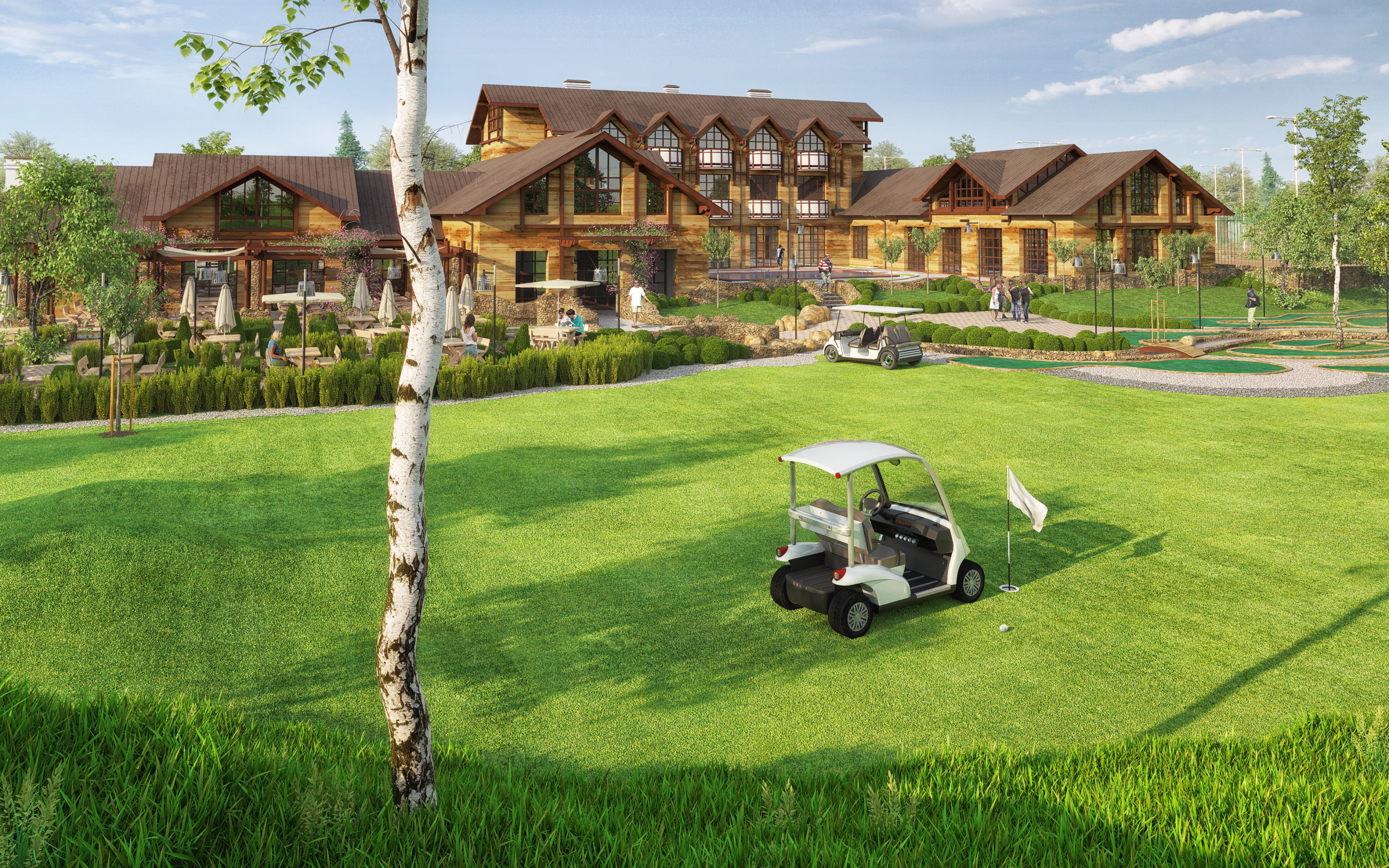 Golf Club in 3d max corona render image