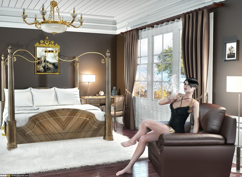 imagen de Interior clásico - 1 en 3d max vray