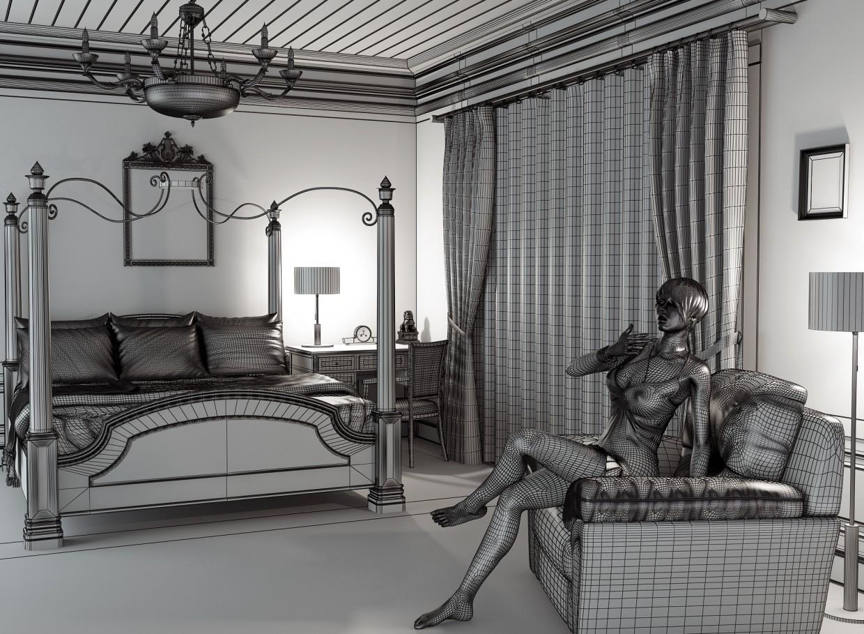 Classic interior - 1 in 3d max vray image