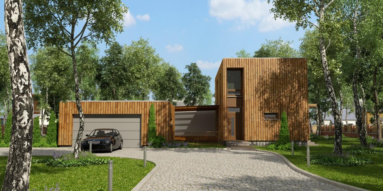 дом из деревянных панелей в 3d max vray изображение