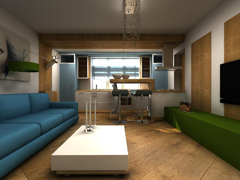 imagen de Eko-minimalizm urbana en 3d max vray