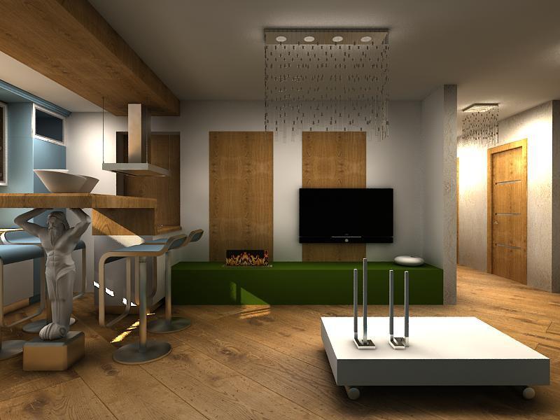 Urban eko-minimalizm in 3d max vray image