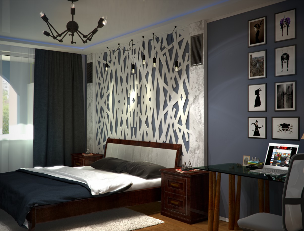 3d визуализация проекта комната пацана в 3d max, рендер vray от texni4no