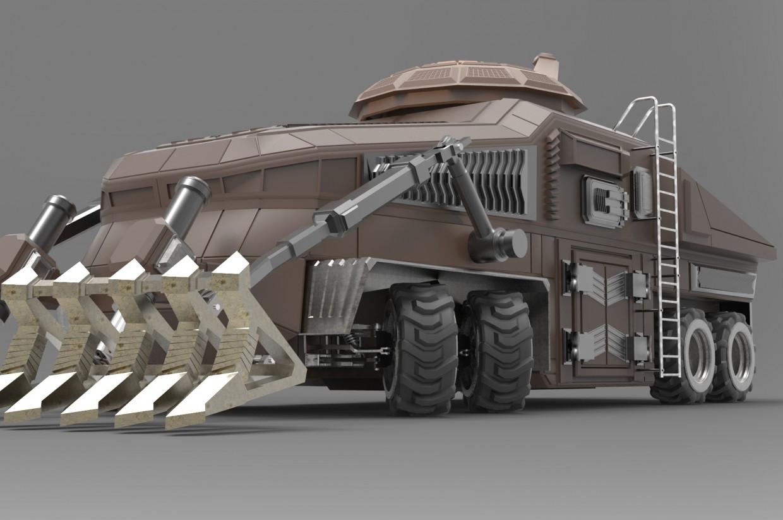 Трактор 2 в 3d max mental ray зображення