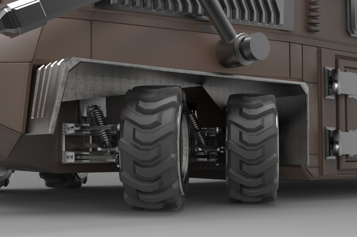 Geo-Tractor in 3d max mental ray image