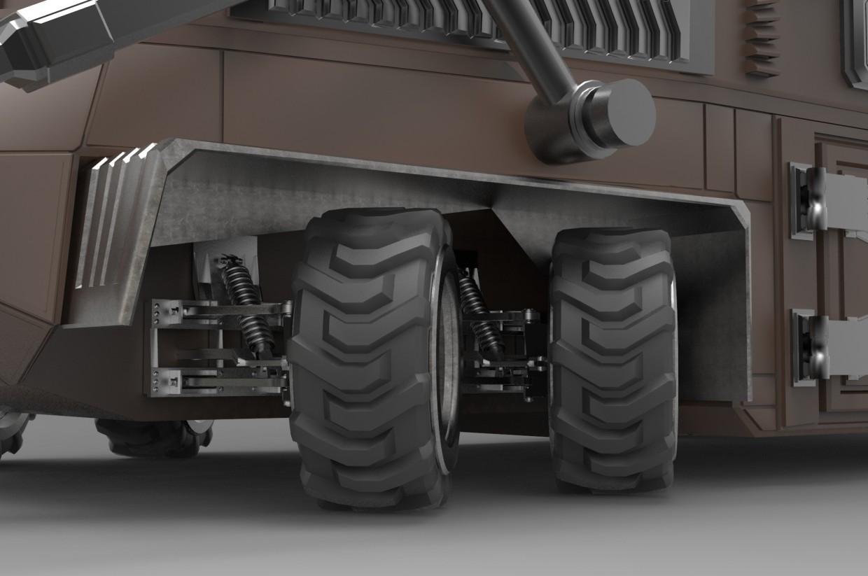 Гео-Трактор в 3d max mental ray изображение