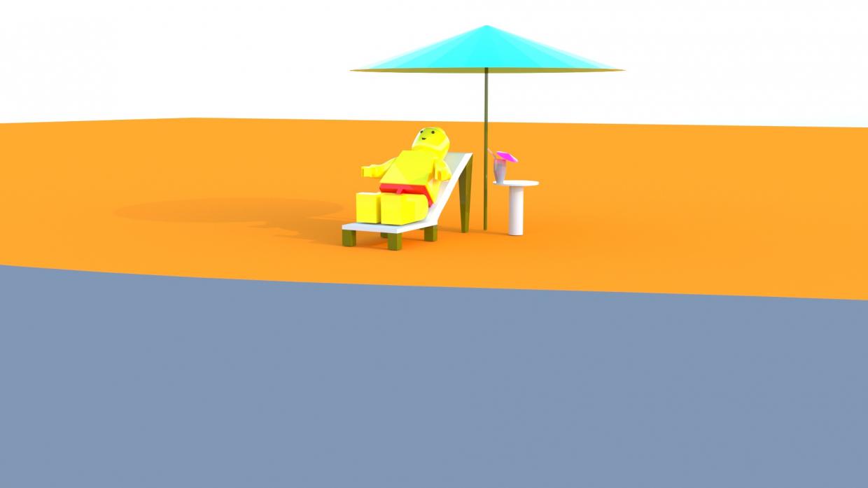 LegoMen in 3d max corona render image