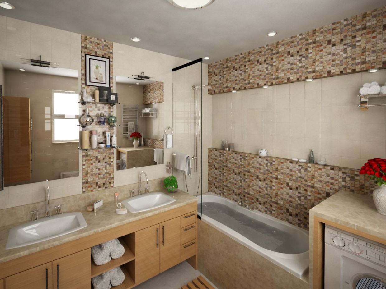 bathroom in 3d max vray 1.5 image