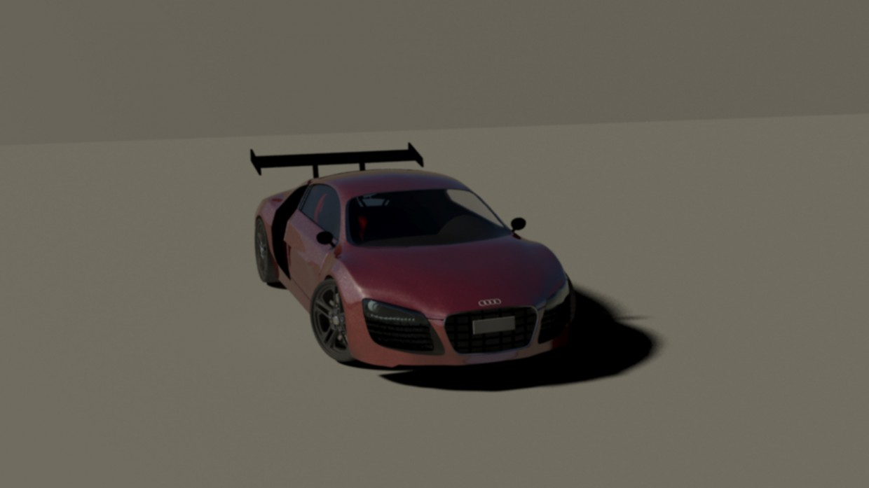 Audi in 3d max mental ray image
