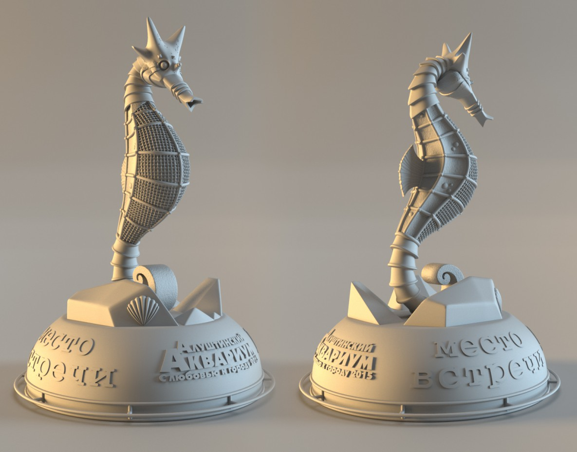 3d visualization of the project in the Seahorse Maya, render Other of Kostya