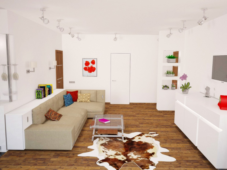 Квартира-студия в 3d max vray изображение