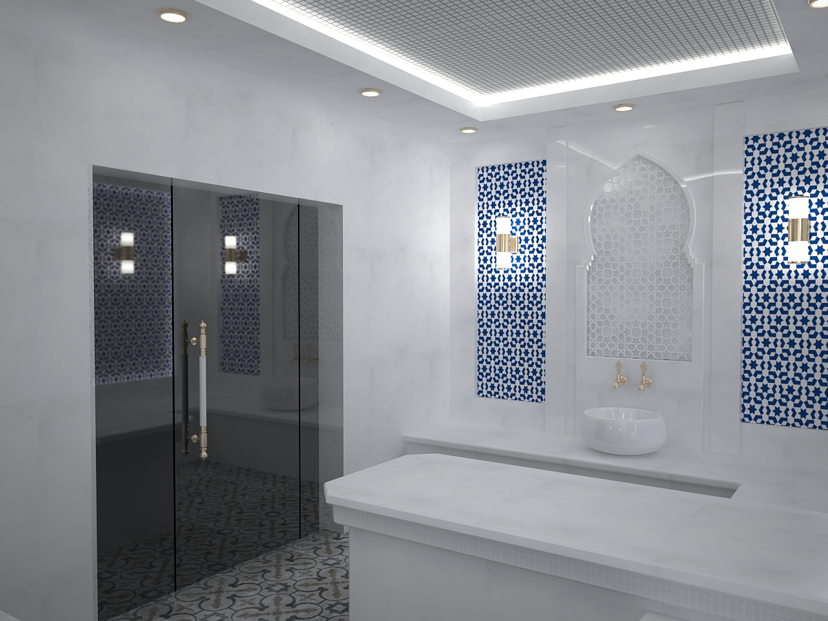 Turkish sauna 01 in 3d max vray 3.0 image